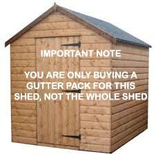 Mini Gutter Shed Pack Apex Style Roof - 10 x 8 Brown