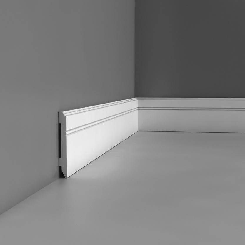 Skirting Luxxus Collection - 2000mm x 110mm x 13mm White