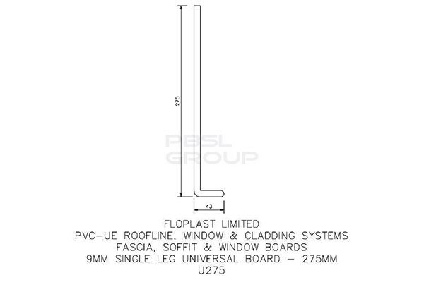 Cover Board - 275mm x 9mm x 5mtr White - Pack of 4 - OUT OF STOCK