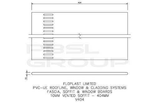 Vented Soffit Board - 404mm x 10mm White - OUT OF STOCK