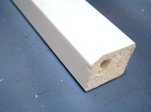 PVC Square Section - 15mm x 5mtr White