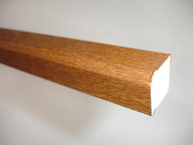 PVC Square Section - 15mm x 5mtr Golden Oak