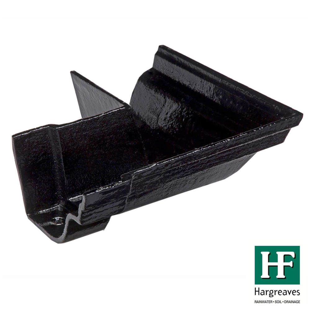 Cast Iron Notts Ogee Gutter External Angle - 90 Degree x 115mm Black