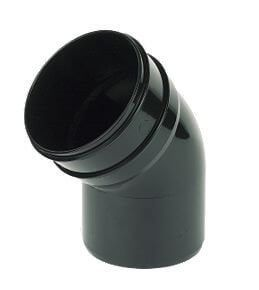 Industrial/ Xtraflo Downpipe Solvent Weld Offset Bend Bottom - 110mm Black - OUT OF STOCK