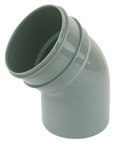 Industrial/ Xtraflo Downpipe Solvent Weld Offset Bend Bottom - 110mm Grey