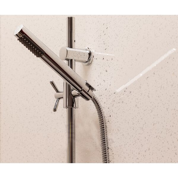 Bathroom & Shower Cladding Aqua1000 PVC Panel - 1000mm x 2400mmm x 10mm White Sparkle - OUT OF STOCK