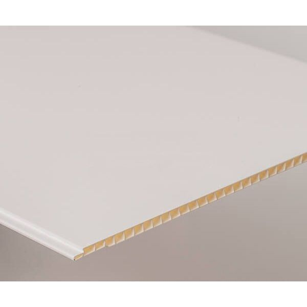 Bathroom & Kitchen Cladding Aqua250 PVC Panel - 250mm x 2700mm x 5mm White Gloss - Pack of 4