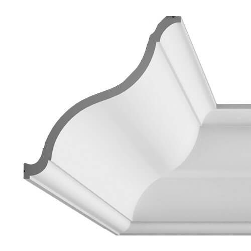 Cornice Moulding Exterior - 2000mm x 215mm x 200mm White