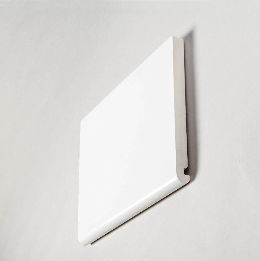 Bullnose Fascia Box End Double Edged - 405mm x 22mm x 1.25mtr White