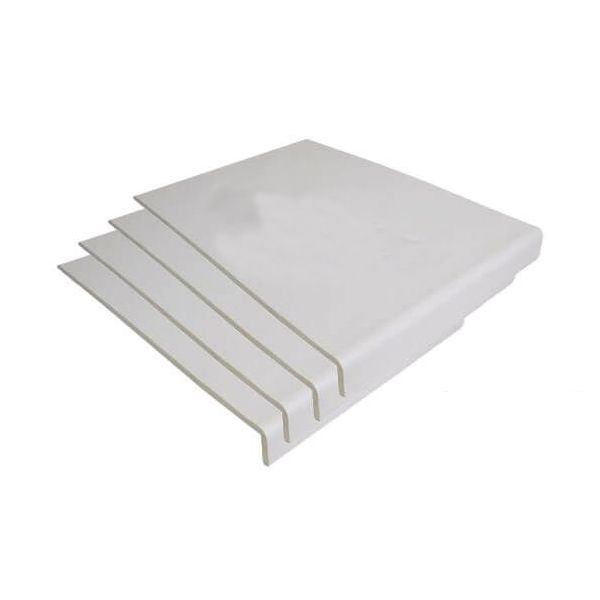 Cover Board - 250mm x 9mm x 5mtr White - Pack of 4