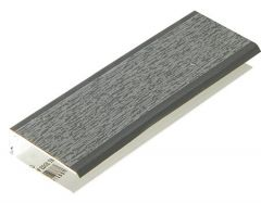 Shiplap Cladding Two Part Top Edge Trim - 5mtr Anthracite Grey Woodgrain