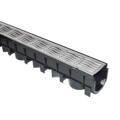 Channel Drainage Grate Galvanised Steel - 1mtr