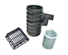 Yard Gully Set With Silt Bucket and Ductile Iron Grating - 25 Tonne x 300mm Diameter