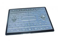 Steel Manhole Cover - 2.5 Tonne x 450mm x 450mm