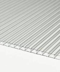 Polycarbonate Sheet Twinwall - 10mm x 600mm x 3mtr Clear