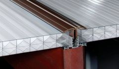 PVC Capped Rafter Bar Rafter Supported - 2mtr Brown