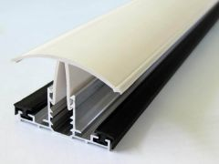 PVC Capped Rafter Bar Rafter Supported - 3mtr White