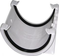 Deepflow/ Hi-Cap Gutter Union Bracket - 115mm x 75mm White
