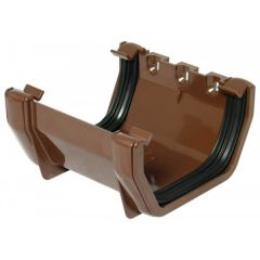 Square Gutter Union Bracket - 114mm Brown