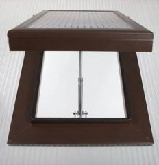Roof Vent - for 16mmm Polycarbonate Sheet Brown