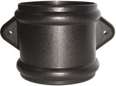 Ring Seal Soil Coupling With Lugs Double Socket - 110mm Cast Iron Effect
