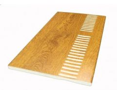Vented Soffit Board - 404mm x 10mm Golden Oak