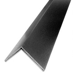 PVC Hollow Angle - 100mm x 80mm x 5mtr Black Ash