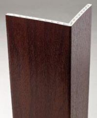 PVC Hollow Angle - 100mm x 80mm x 5mtr Rosewood