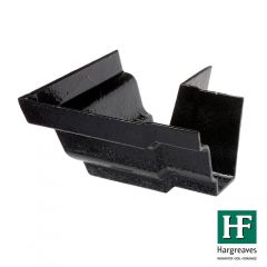 Cast Iron Moulded Ogee Gutter External Angle - 90 Degree x 100mm Black