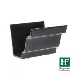 Cast Iron Moulded Ogee Gutter Union - 100mm Black