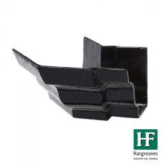 Cast Iron Moulded Ogee Gutter External Angle - 135 Degree x 125mm Black