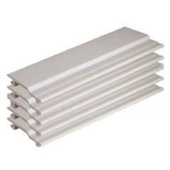 V Joint Cladding - 100mm x 5mtr White - Pack of 5