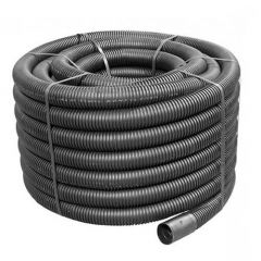 Flexi Duct - 50mm (O.D.) x 50mtr Black Coil - OUT OF STOCK