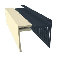 Weatherboard Cladding Vented Top Edge Closer Trim - 25mm Pale Gold