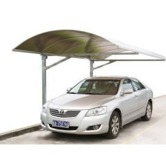 Typhoon Portus Carport - 5mtr Length x 3mtr Width With Silver Frame
