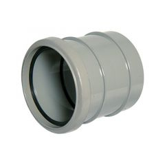 Solvent Weld Soil Coupling Single Socket - 110mm Olive Grey
