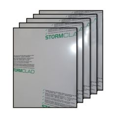 Rigid/ Solid PVC Hygiene Cladding Sheet - 1220mm x 2440mm x 2.5mm White - Pack of 5