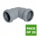 Push Fit Waste Bend Knuckle - 90 Degree x 32mm Grey - Pack of 25