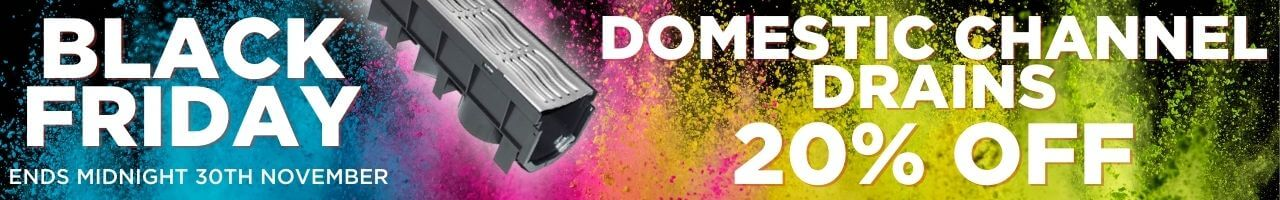 Domestic Channel Drain Black Friday Banner